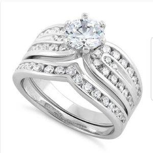 Jewelry - Sterling Silver Elegant Wedding Set